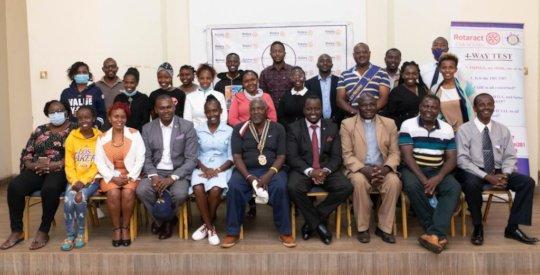 Rotary Club of Embu with Rev Jackson Ngari
