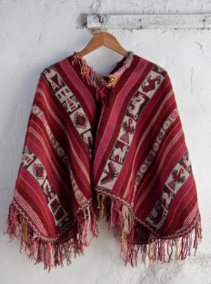 A typical woven poncho from Patacancha