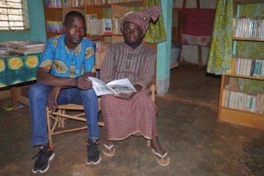Reading in Karaba library, Nov 2020