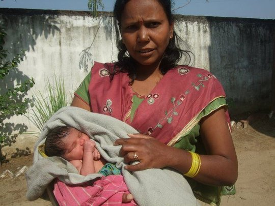 Neelam with baby boy found in Field