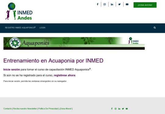 A screen shot of NMED Aquaponics training online!