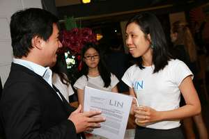 Ms. Truc spoke with an agency attending the event