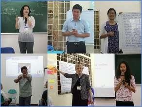 Volunteer speakers at capacity building workshops.