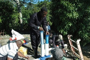 Our 2 chlorinators in Thiotte serve 19,000 people.