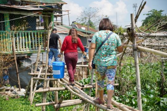 Distributing hygiene kits to impacted communities