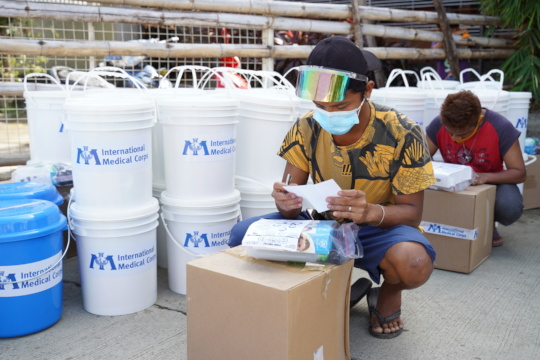 Hygiene kit distribution for impacted communities