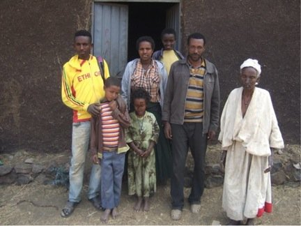 Ahmed (left) and his family