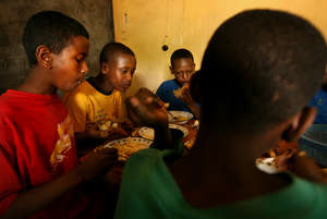 Kids in Retrak's programs receive nutritious meals