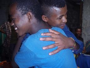 A Hug Seals a Friendship
