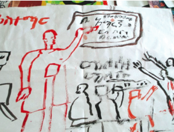 This young artist dreams of becoming a teacher