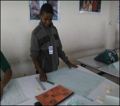 Zephaniah in tailoring class
