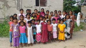 CLUSTER OF GIRL CHILDREN