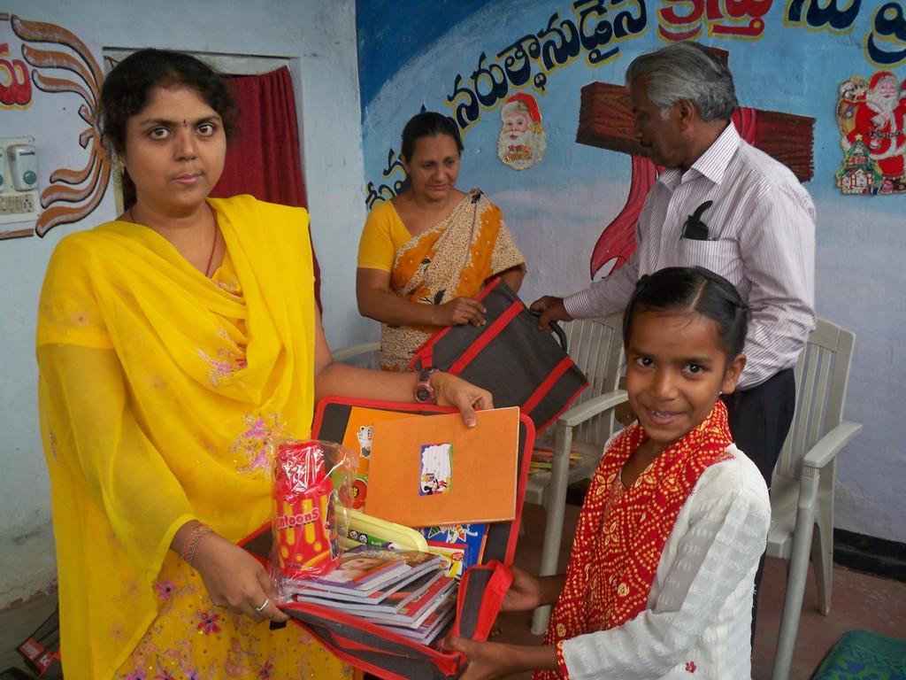 ChildReceiving school needs from Admin.Coordinator