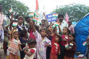 GIRL CHILDREN IN THE FREEDOM FESTIVAL