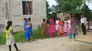 MOTHER ENJOYING GIRL CHILD ACTIVITY