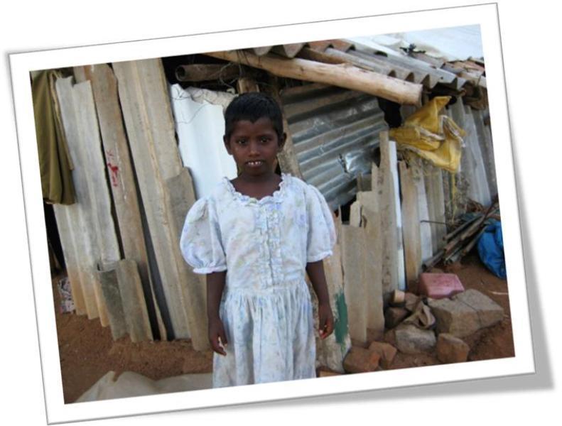 Akhila in  Vampuguda Slum