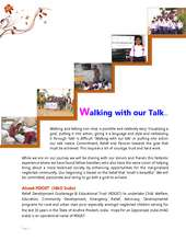 Walking with our Talk… (PDF)