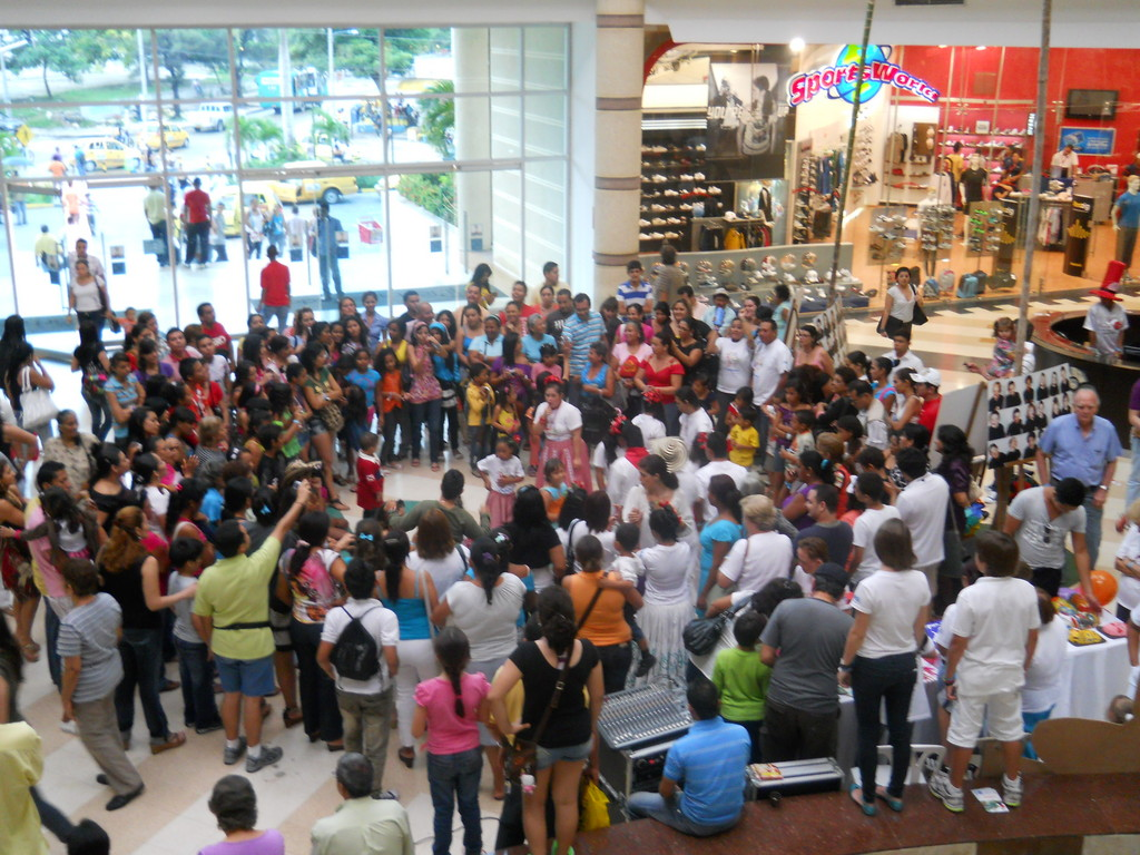 Public in Shopping Center watching our dancers