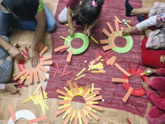 Crafts activities in the Child Friendly Space