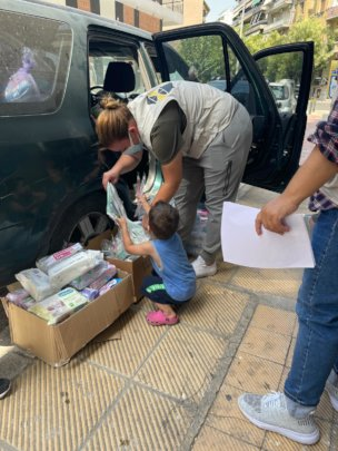 Our Athens streetwork monthly distribution