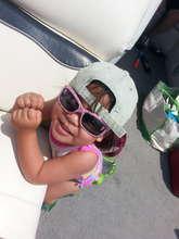 Charlet showing off her smile!