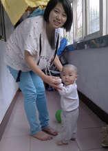 JH practicing walking
