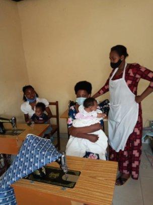 Moms Starting Sewing Apprenticeship.