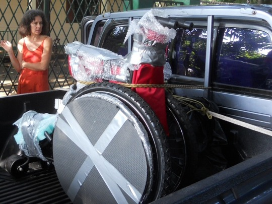 Wheelchair on its way to Nicaragua