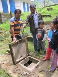 Testing for solids in the septic tank