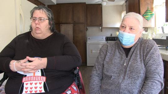 Myrna and Terri at the Mercy House
