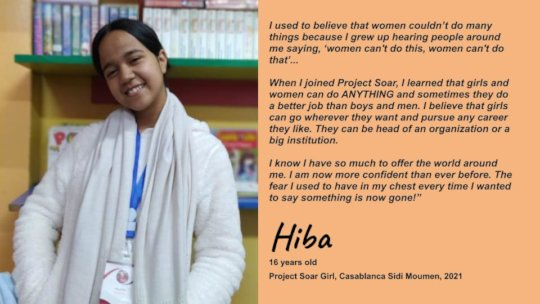 Hiba, Project Soar Girl quote