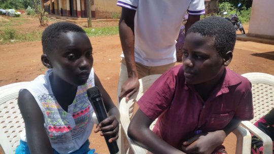 Adolescent describing urgent need for school fees