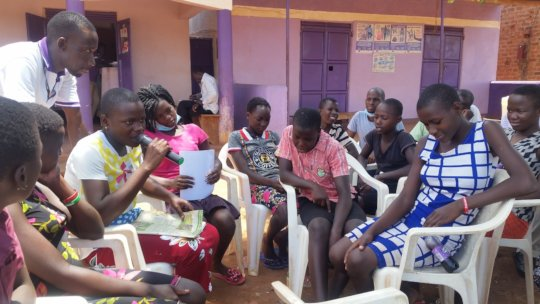 Girl seeking support for sanitary pads