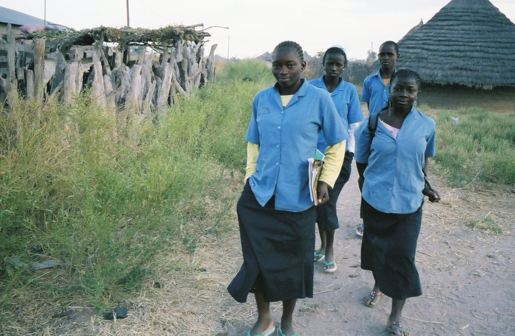 Adolescent girls on their way to school