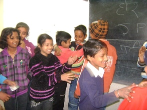 Children interacting during the workshop