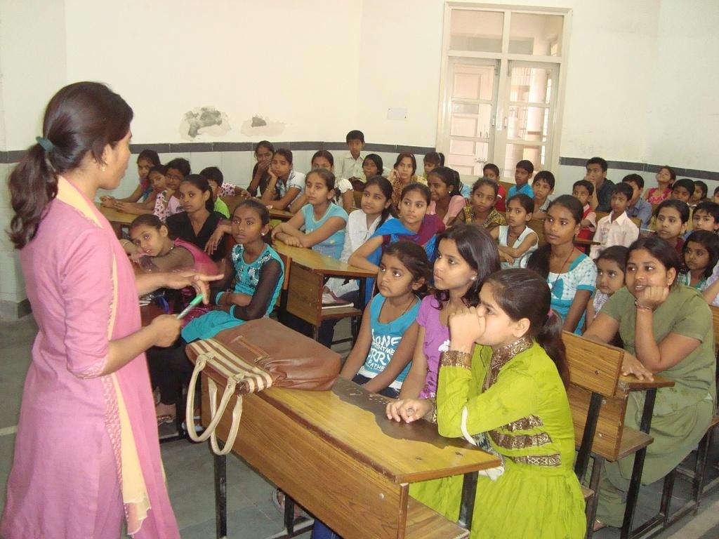 Children enjoying the story telling