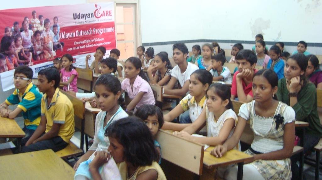 Children attending the workshop