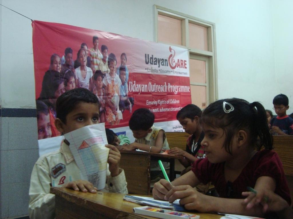 Children at a workshop