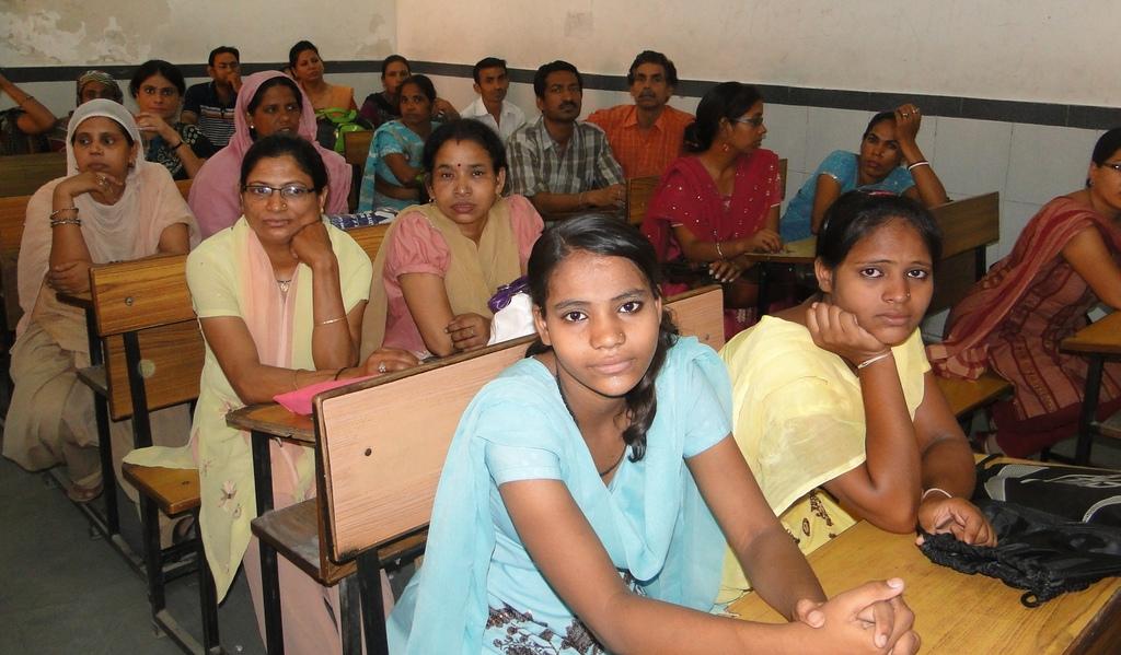 Parents attending the workshop