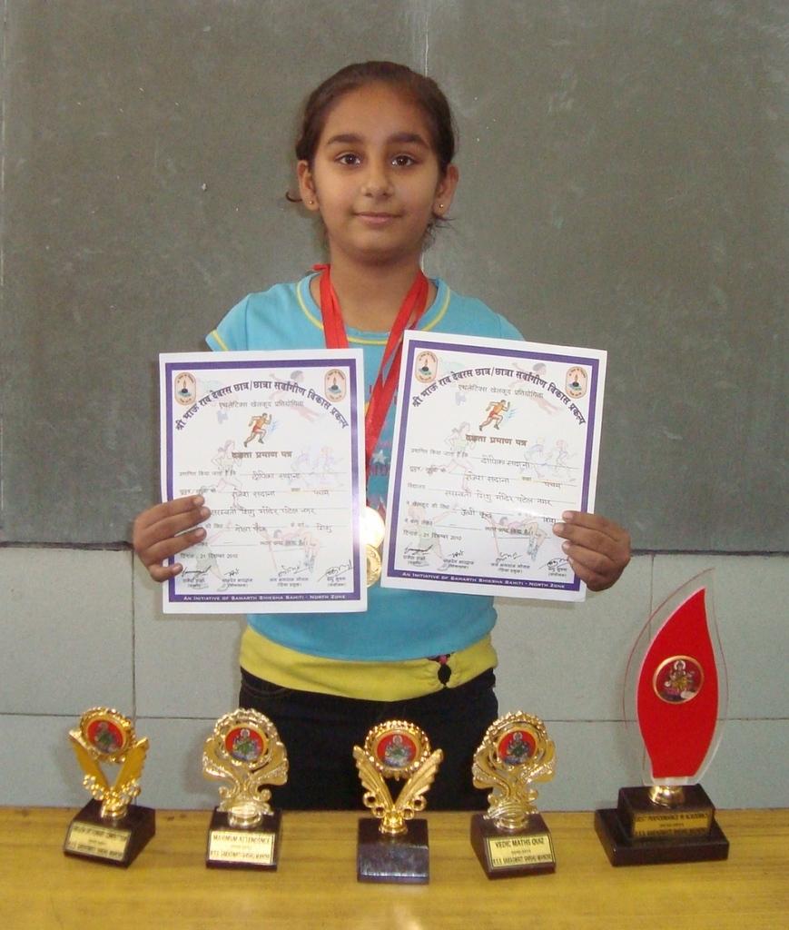 Deepika stood first in her class