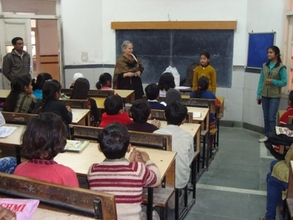 Gerlinde from Germany interacting with children