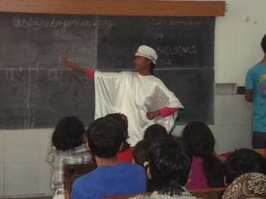 Pooja presenting her dance