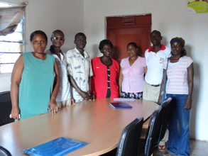 Facilitators gathered for the review meeting