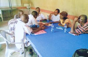 Group discussion during the training