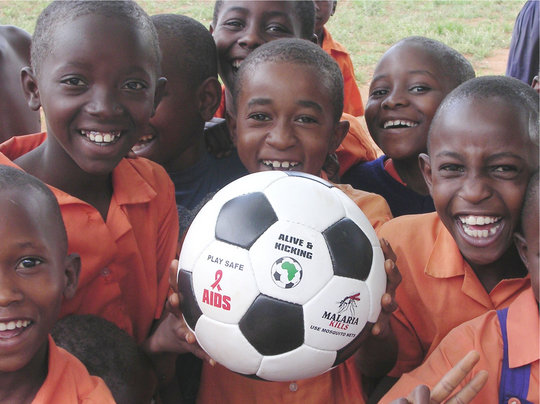 Donate African made balls to children in Africa