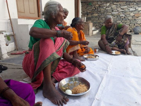 Donating nutrition meal sponsorship to poor oldage