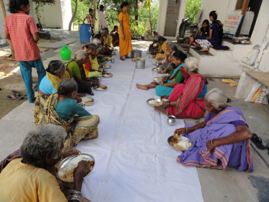 Meal Sponsorship for oldage women in andhrapradesh
