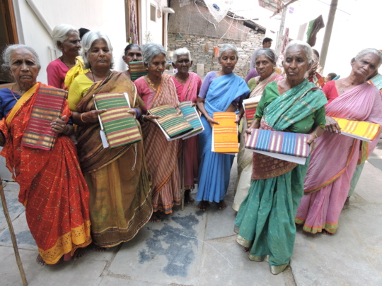 sarees donation for poor old age people in andhra