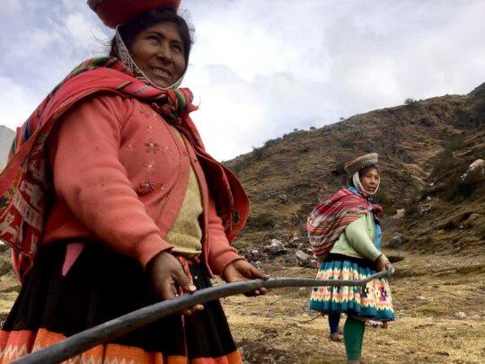 Help llama farmers access water to improve pasture
