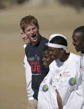 Prince Harry with Kick4Life